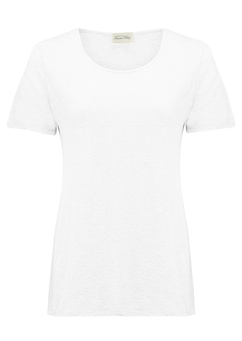 American Vintage Jacksonville Round Neck Tee - White main image