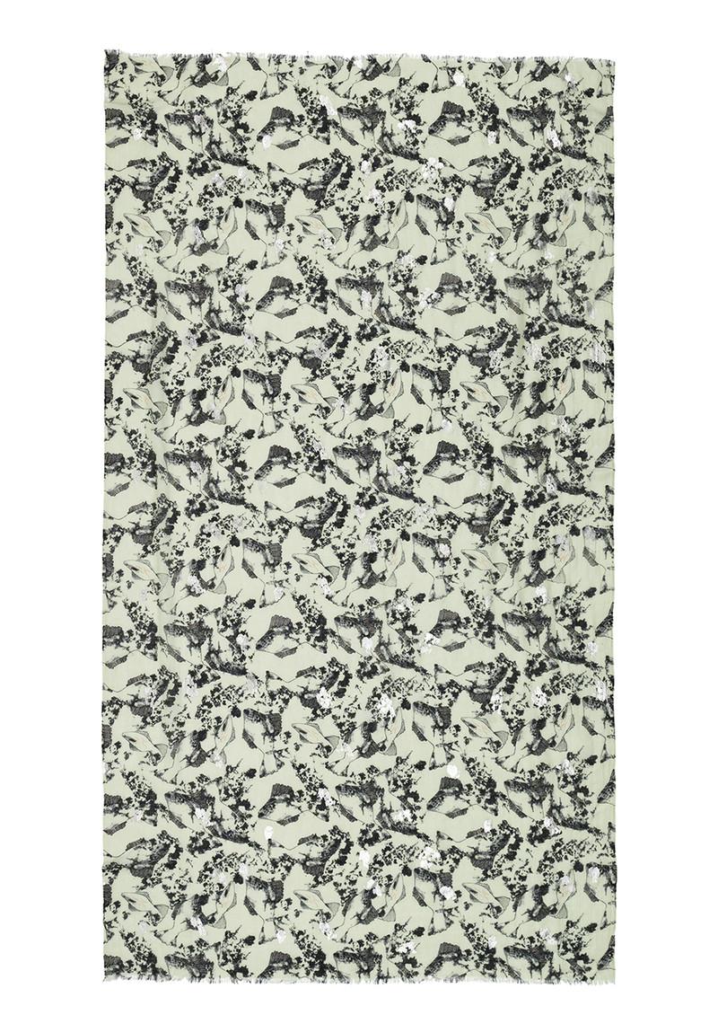 Becksondergaard V-Settsu Wool Mix Scarf - Pale Green main image