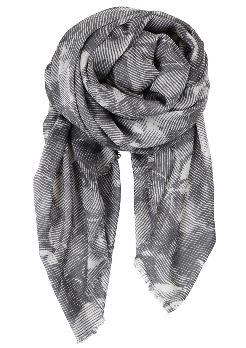 Becksondergaard V-Nabari Wool Mix Scarf - Steel Grey main image