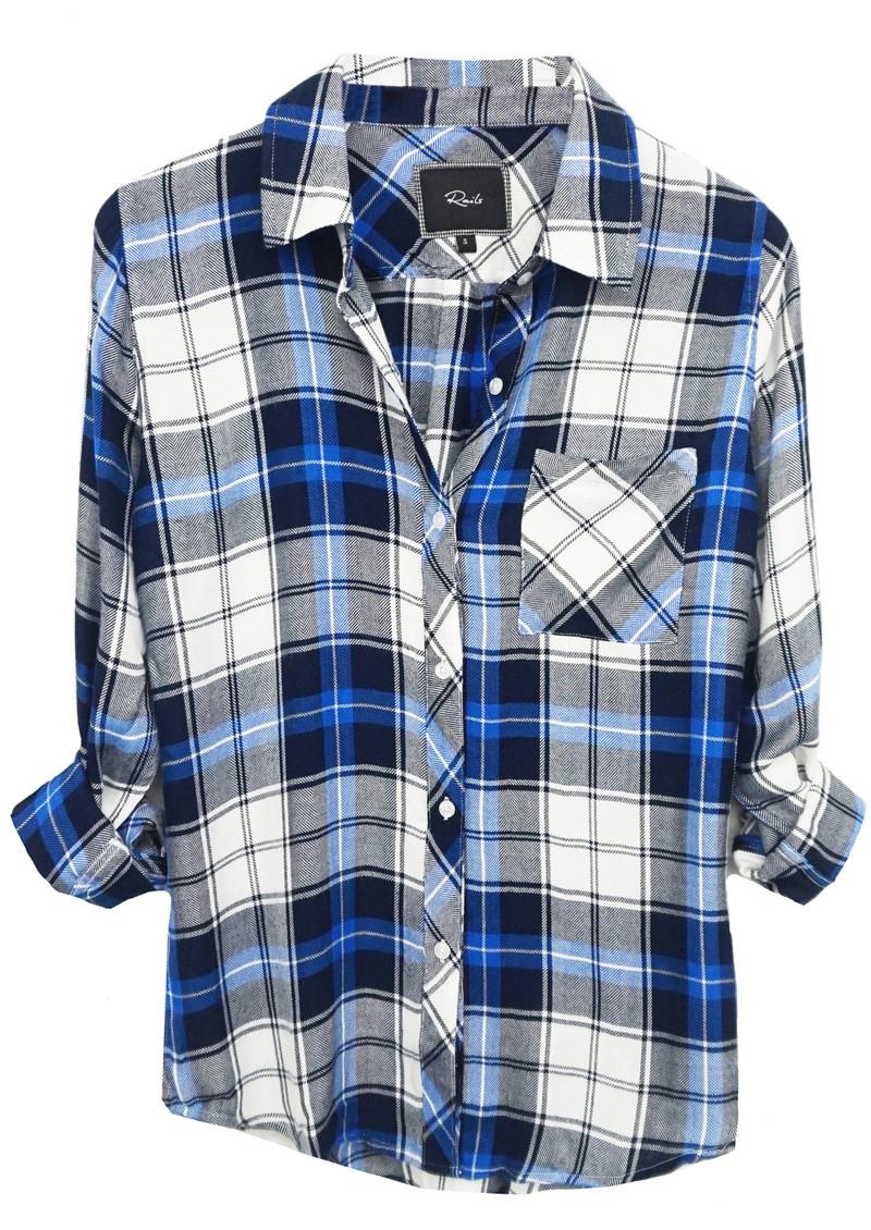 Rails Hunter Shirt - White, Navy & Marine main image