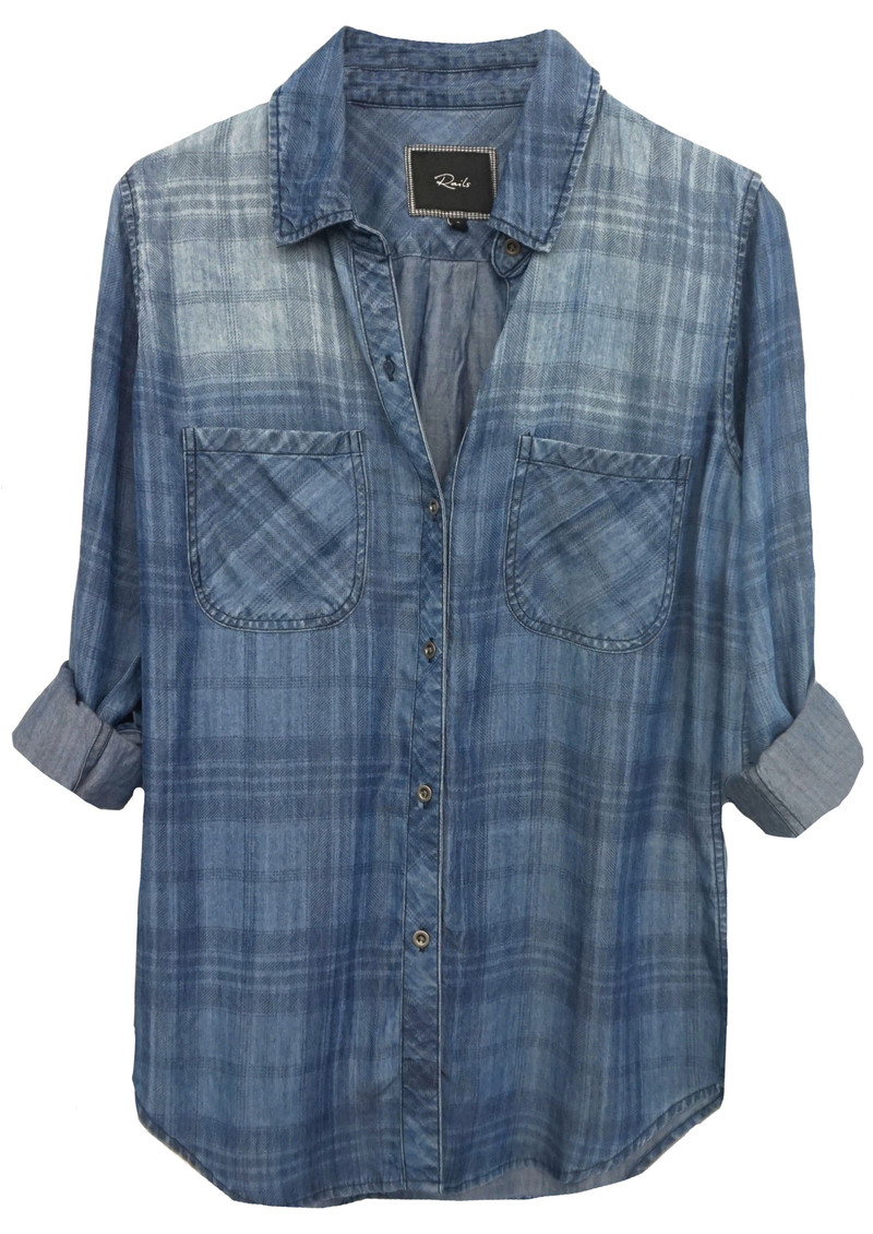 Rails Carter Denim Shirt - Denim Plaid main image