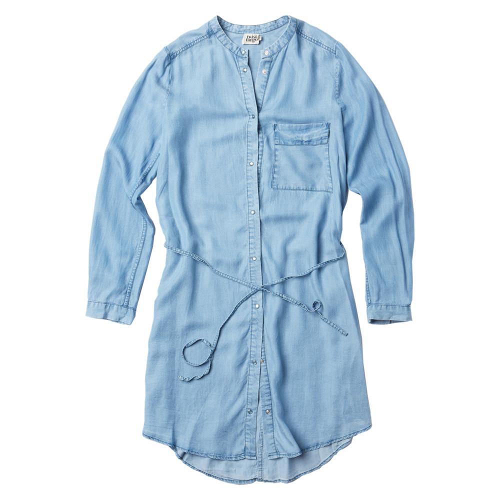 Gemma Dress - Light Blue Denim