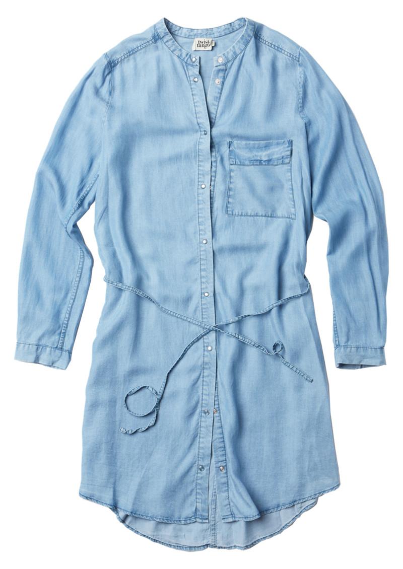 Twist and Tango Gemma Dress - Light Blue Denim main image