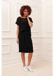 Great Plains Featherweight Jersey Mix Dress - Black