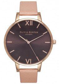 Olivia Burton Big Brown Dial Watch - Dusty Pink & Rose Gold