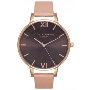 Big Brown Dial Watch - Dusty Pink & Rose Gold
