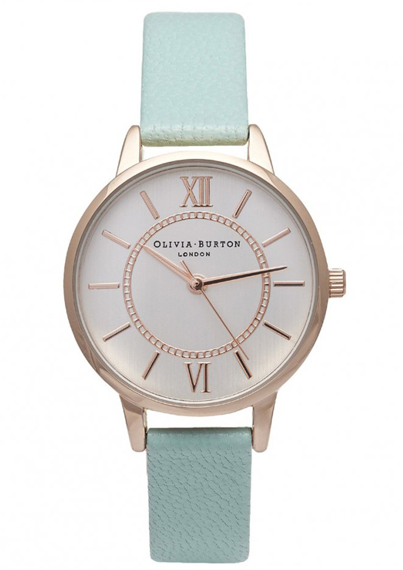 Olivia Burton Wonderland Watch - Mint, Rose Gold & Silver main image