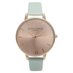 Big Dial Watch - Mint & Rose Gold