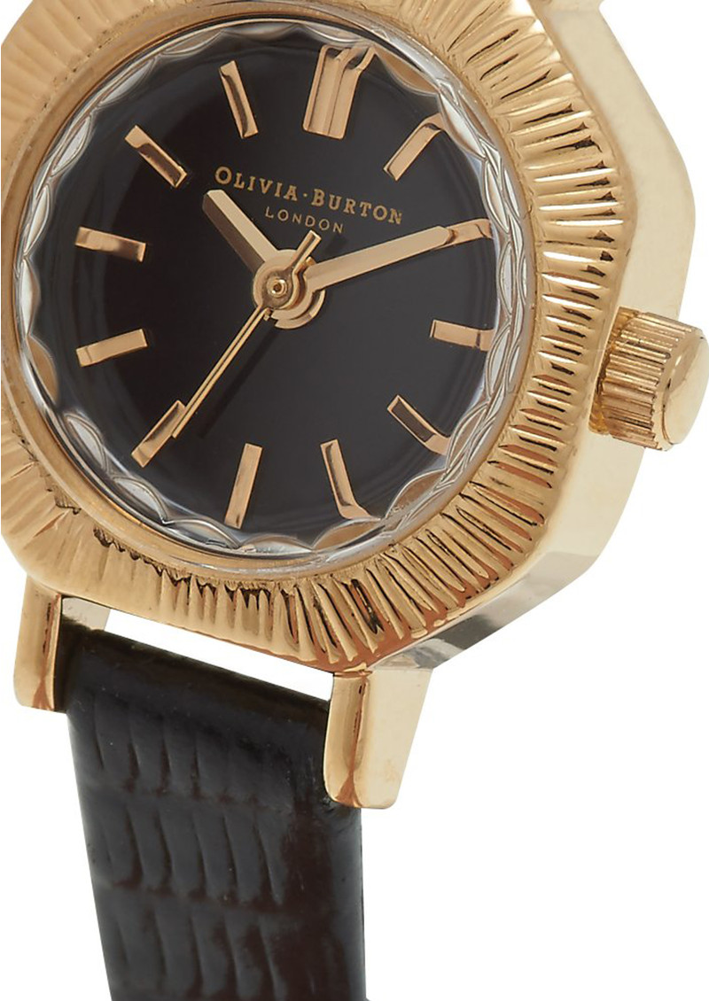 Olivia Burton Mini Antiques Black Dial Watch - Black & Gold  main image