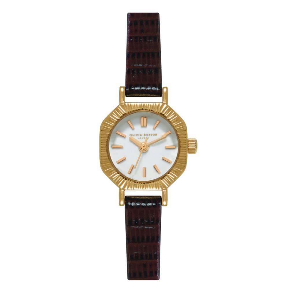 Mini Antiques Watch - Brown & Gold