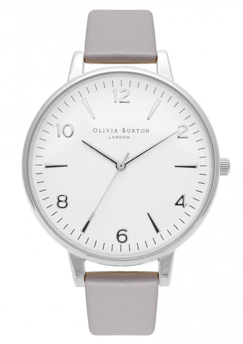 Olivia Burton Modern Vintage Large White Face Watch - Grey Lilac & Silver main image