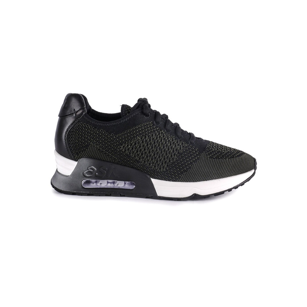 Lucky Knitted Trainers - Black & Army