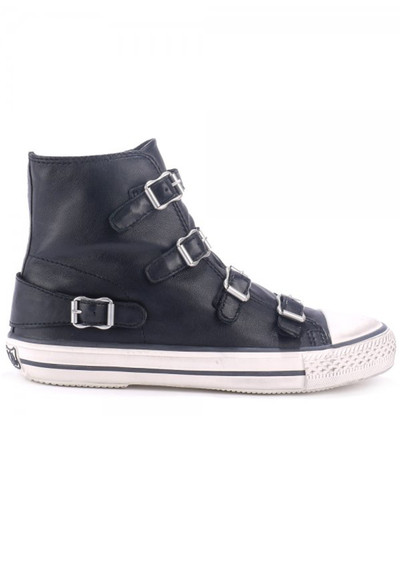 Ash Virgin Leather Buckle Trainers - Black main image