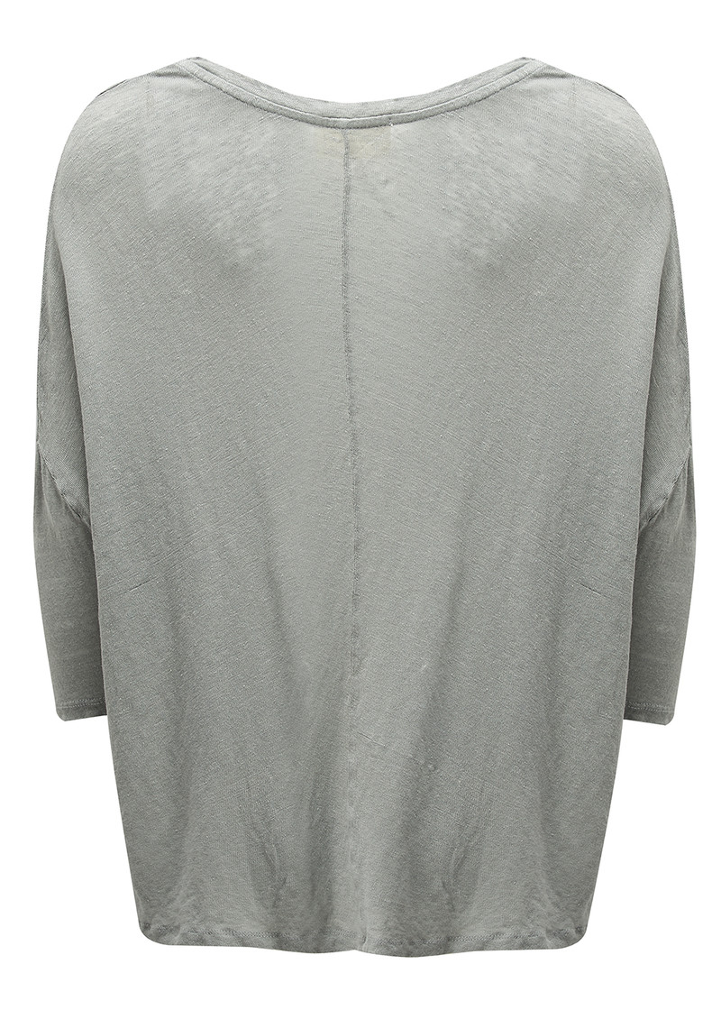 Dearborn Linen Boat Neck Tee - Lightening main image
