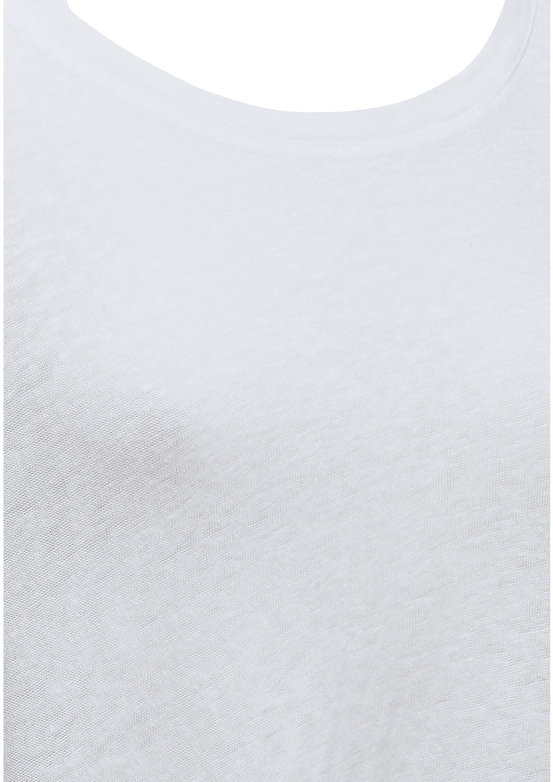 American Vintage Dearborn Linen Boat Neck Tee - White main image