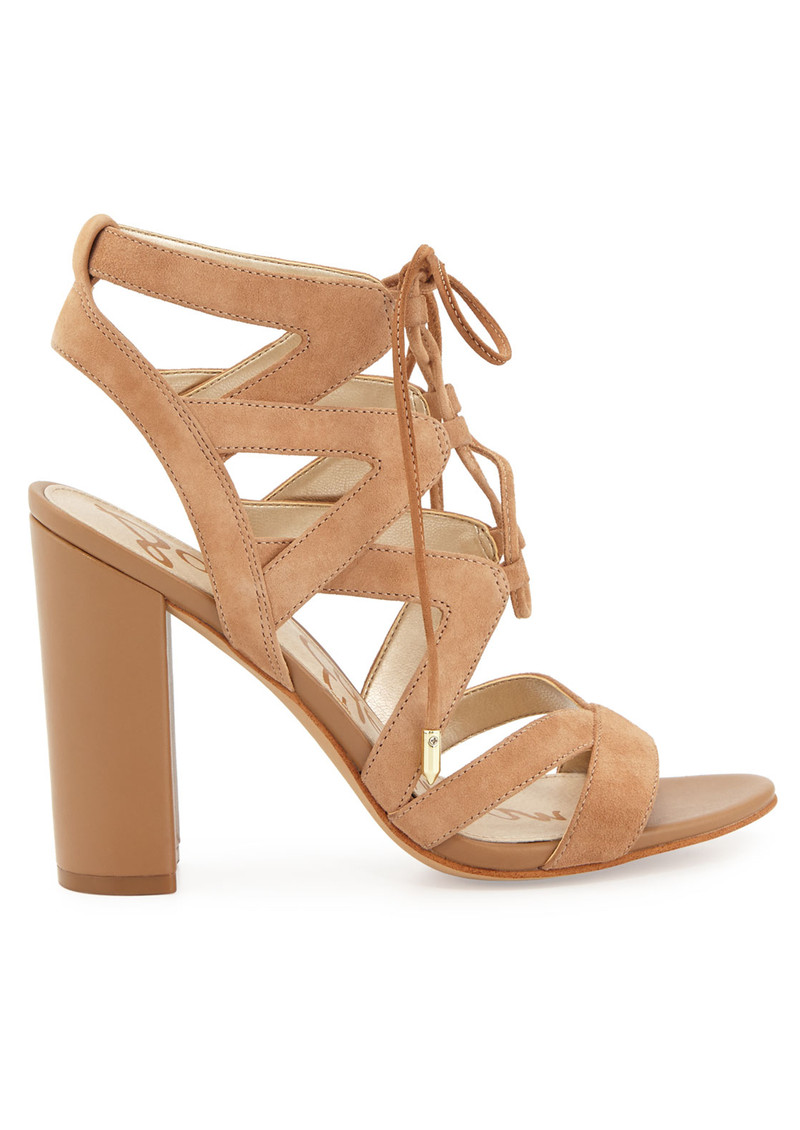 Yardley Lace Up Heels - Golden Caramel main image