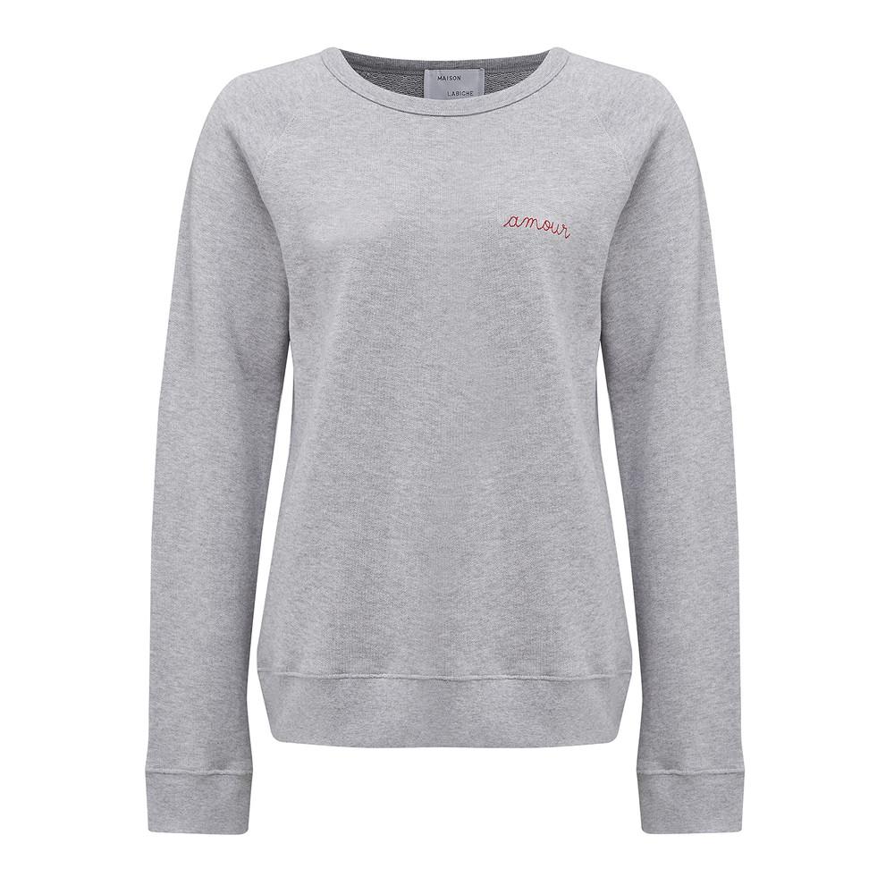 Amour Cotton Sweatshirt - Grey