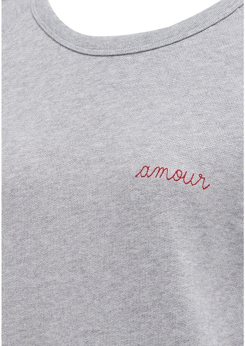 MAISON LABICHE Amour Cotton Sweatshirt - Grey main image
