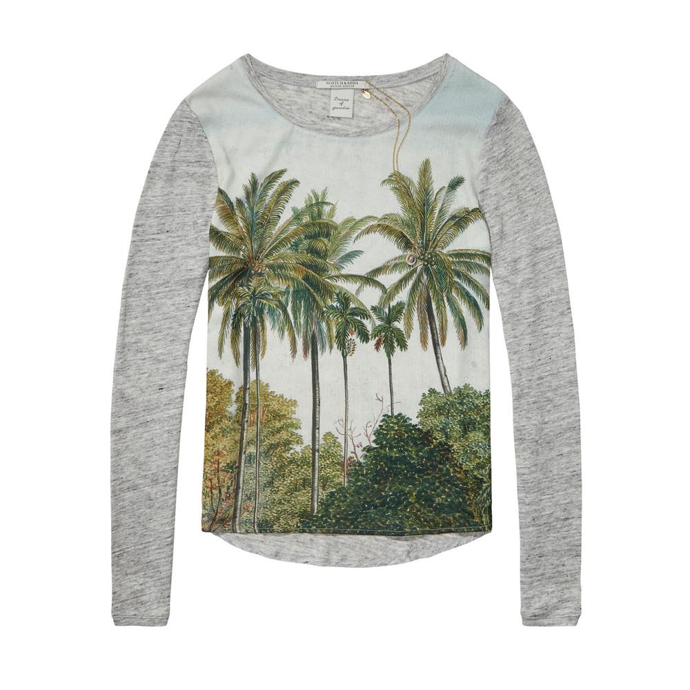 Photo Printed Palm Tree Tee - Combo B