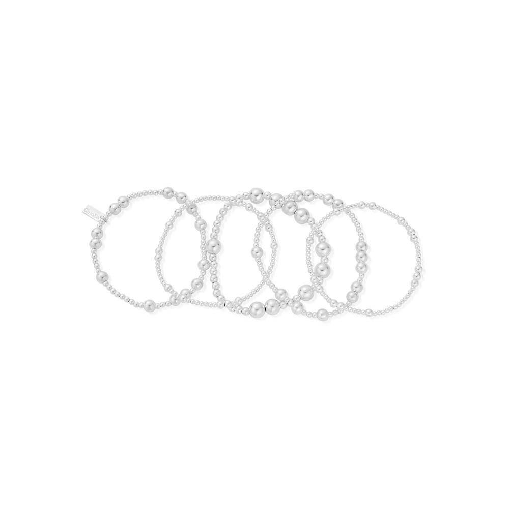 Set of 5 Random Bracelets - Silvers