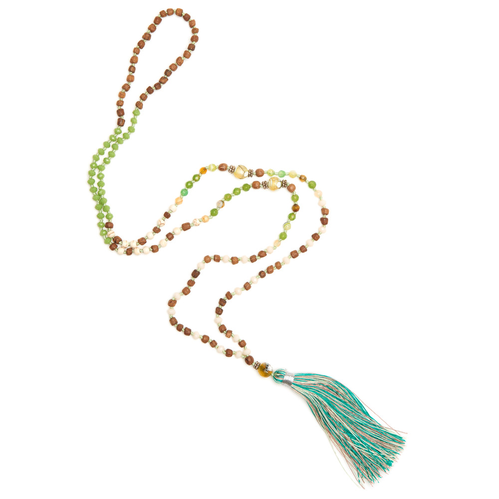 Single Tassel Necklace - Rain Forest