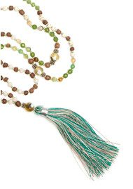 TRIBE + FABLE  Single Tassel Necklace - Rain Forest