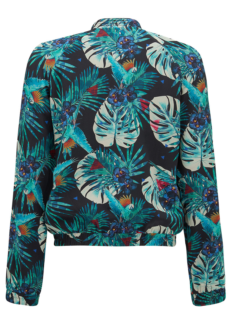Ivy Bomber Jacket - Tropical Print main image