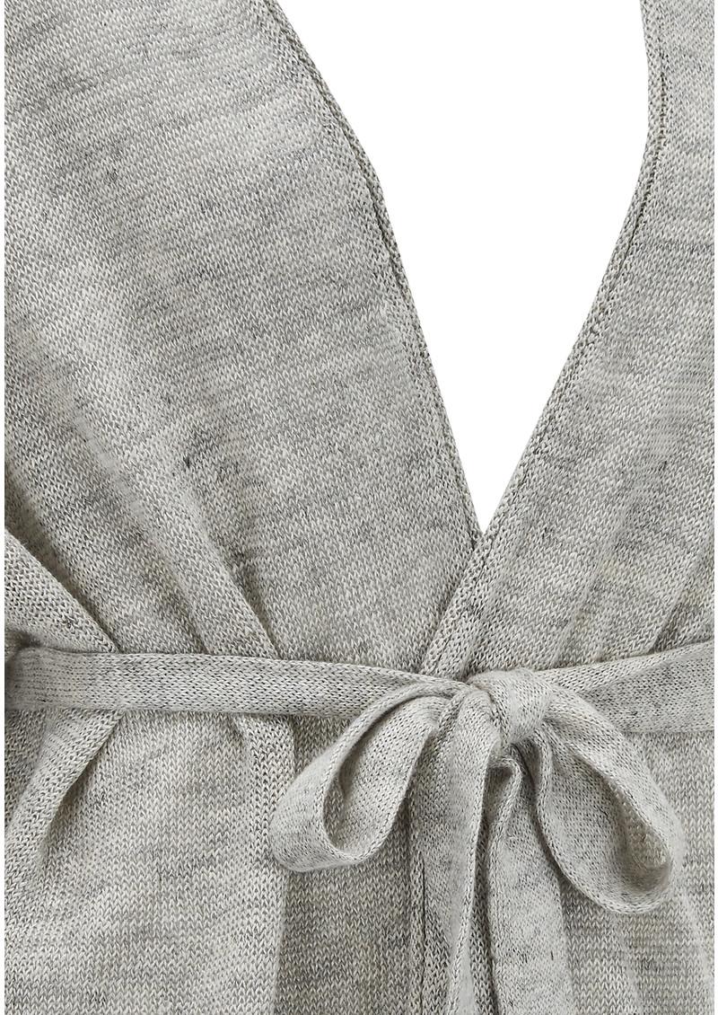 American Vintage Atysville Linen Cardigan - Heather Grey main image