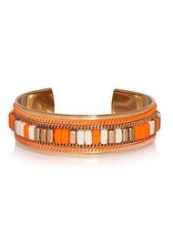 OPALE Cheyenne Beaded Cuff - Fluo Orange