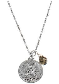 BRAVE LOTUS Flowering Lotus Flower Necklace - Silver