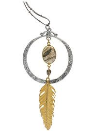 BRAVE LOTUS Feather in the Wind Necklace - Gold & Silver