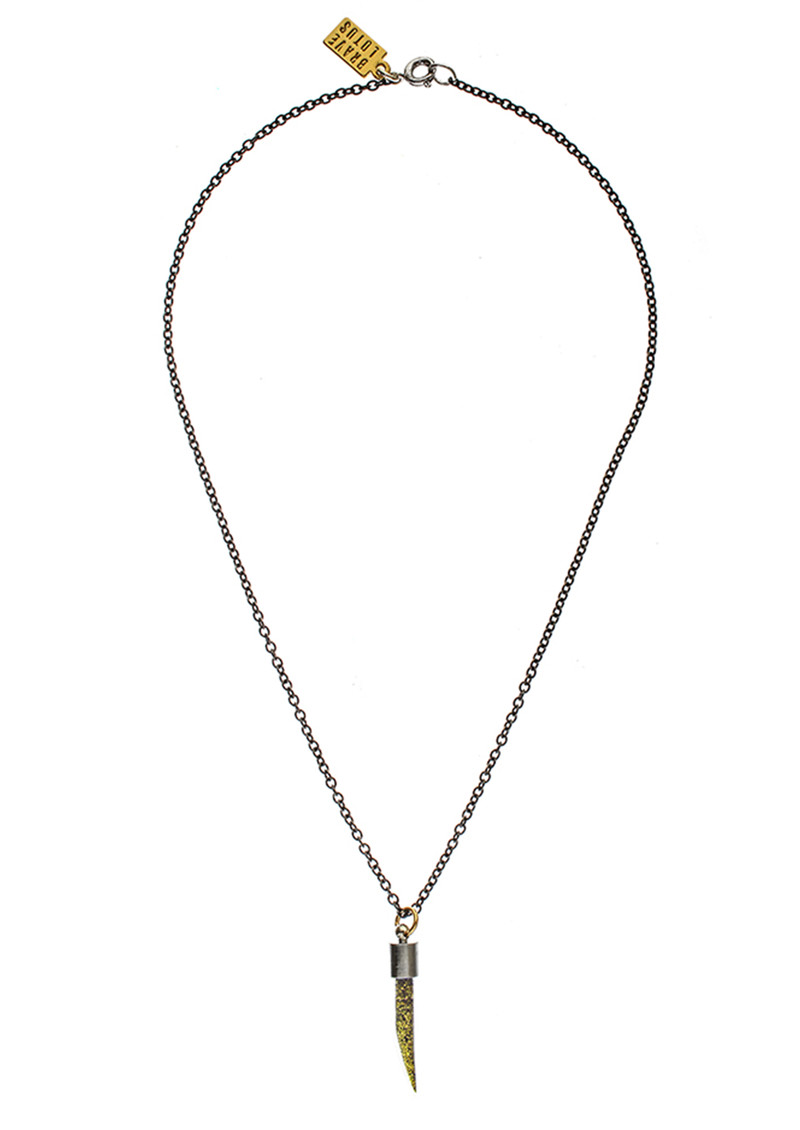 BRAVE LOTUS Keep your Glitter Close Tusk Necklace - Gold main image