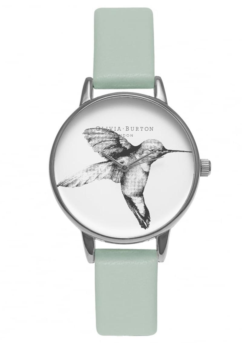 Olivia Burton Animal Motif Hummingbird Watch - Mint & Silver main image