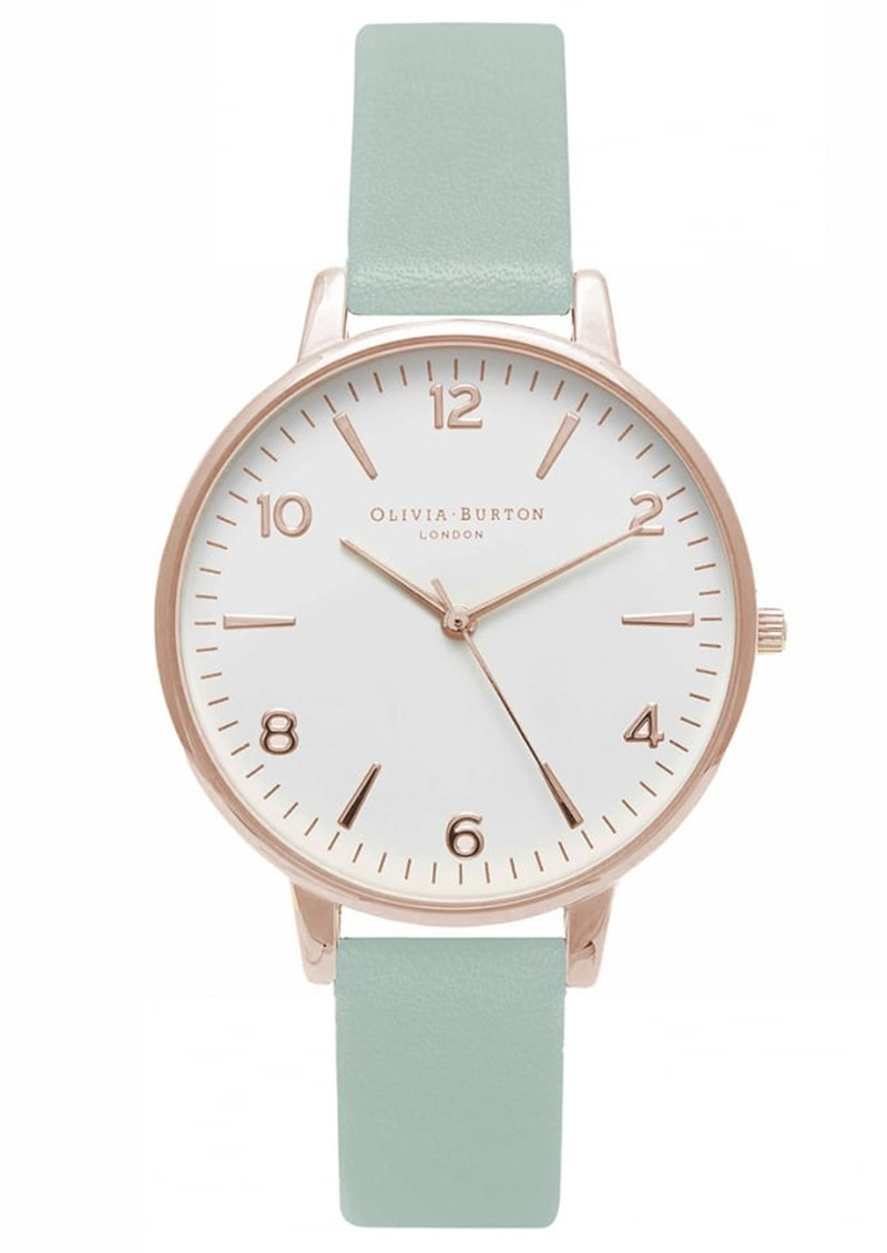 Modern Vintage Midi White Face Watch - Mint & Rose Gold main image