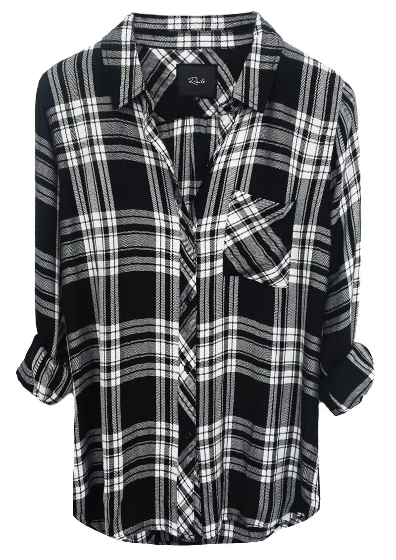Rails Hunter Shirt - Ebony & White main image