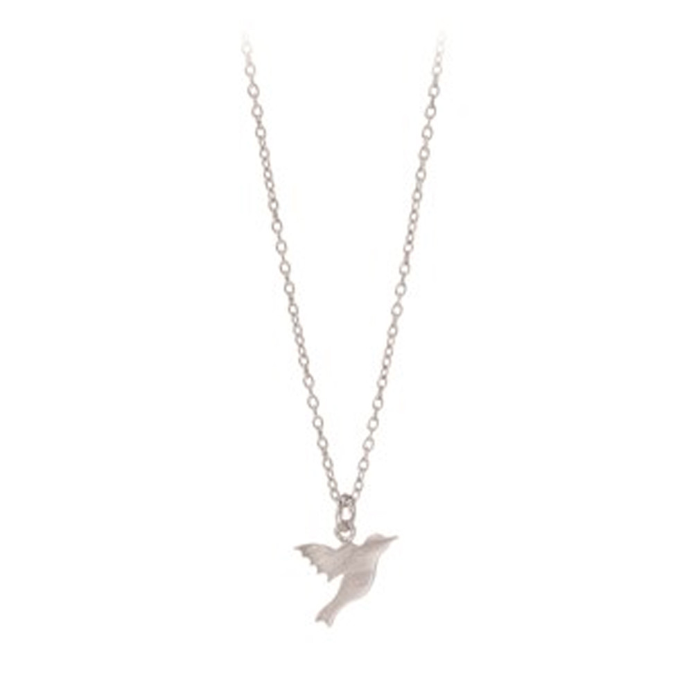 Hummingbird Necklace - Silver