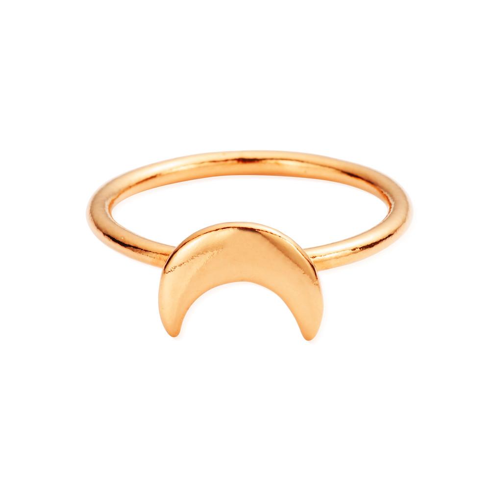 Luna Soul Moon Ring - Rose Gold