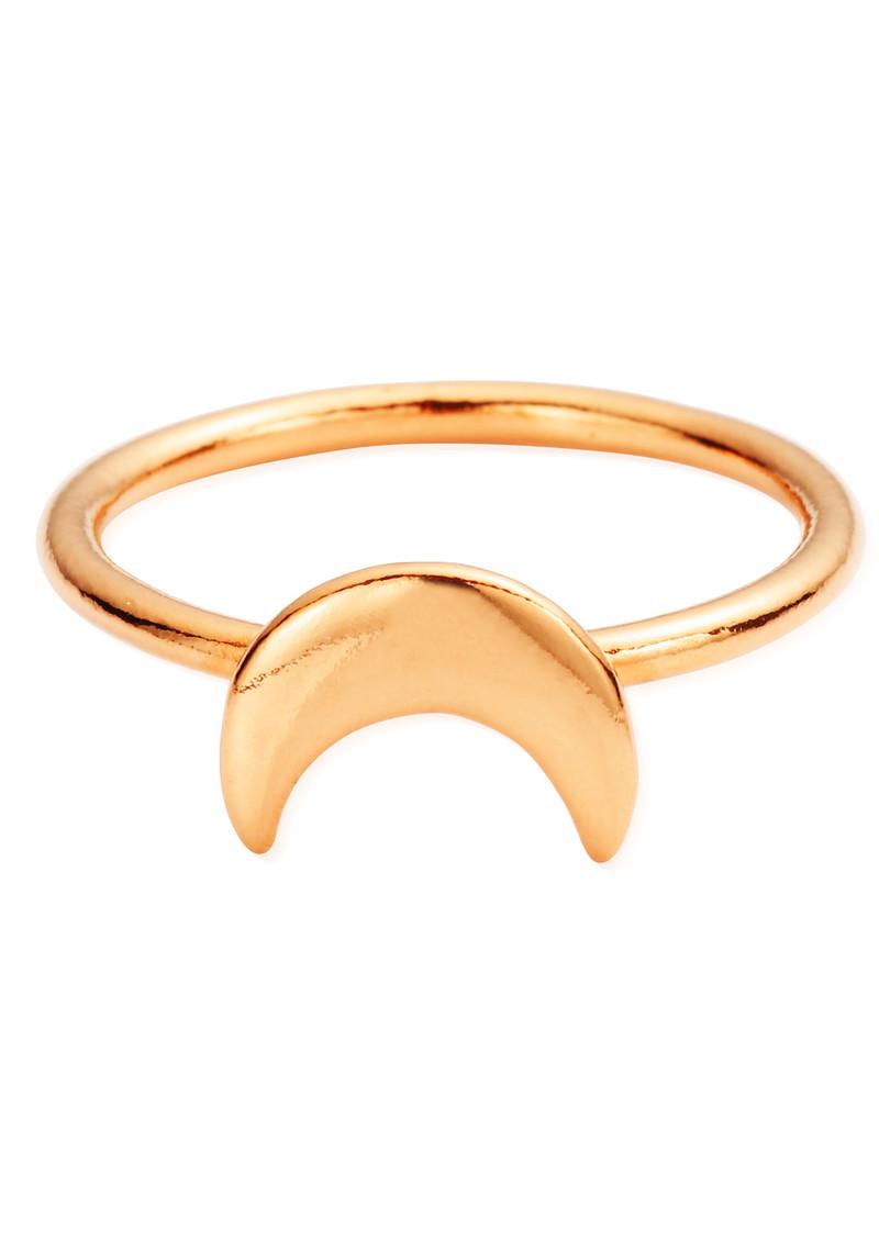 ChloBo Luna Soul Moon Ring - Rose Gold main image