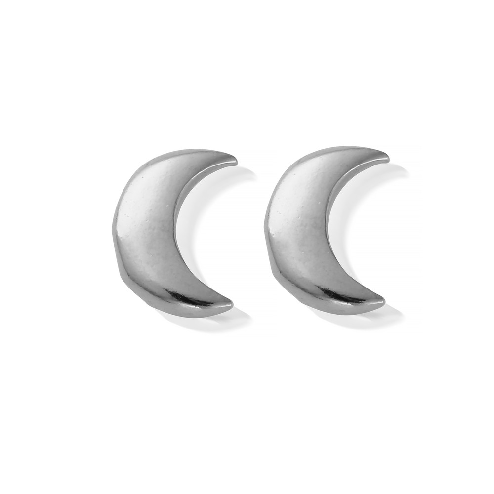 Luna Soul Moon Earrings - Silver