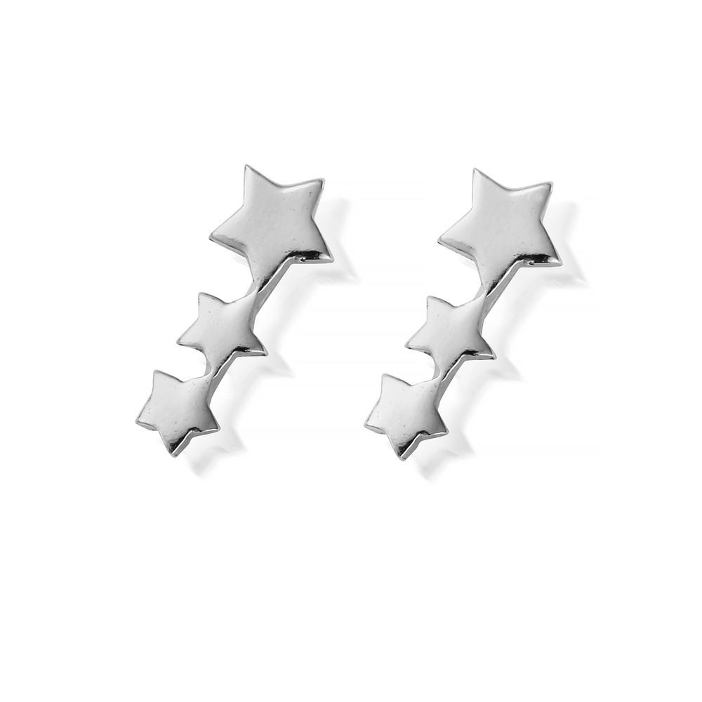 Luna Soul Shooting Star Stud Earrings - Silver