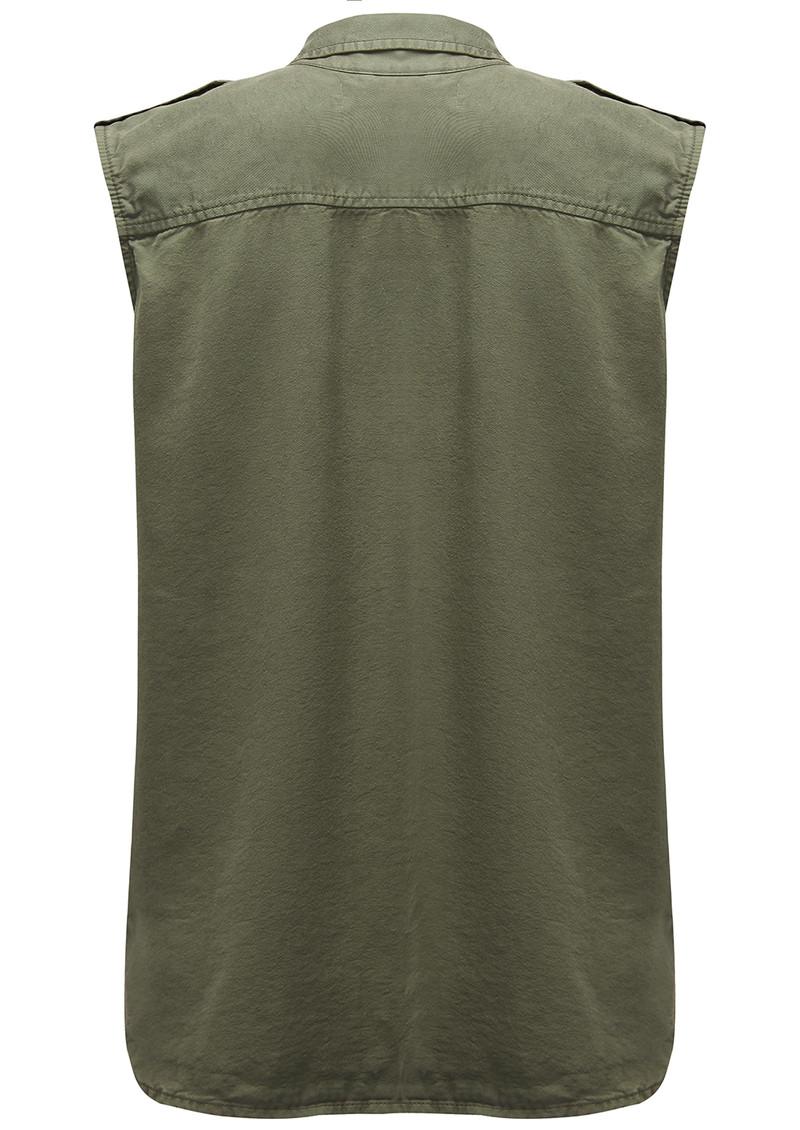 REIKO Chiara Sleeveless Shirt - Khaki main image