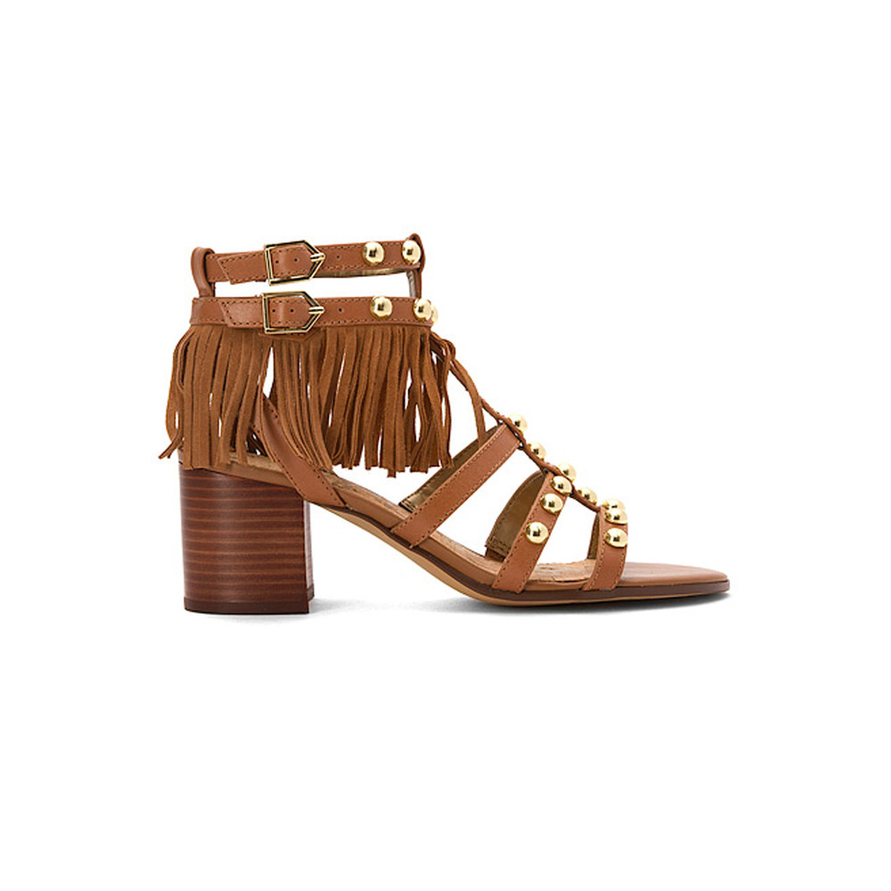 Shaelynn Fringe Sandals - Saddle