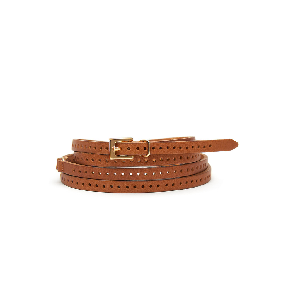 Orla Double Wrap Belt - Tan