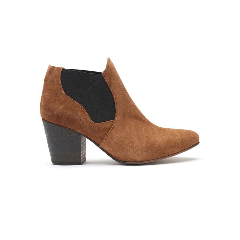 Celine Suede Boot - Lion Tan