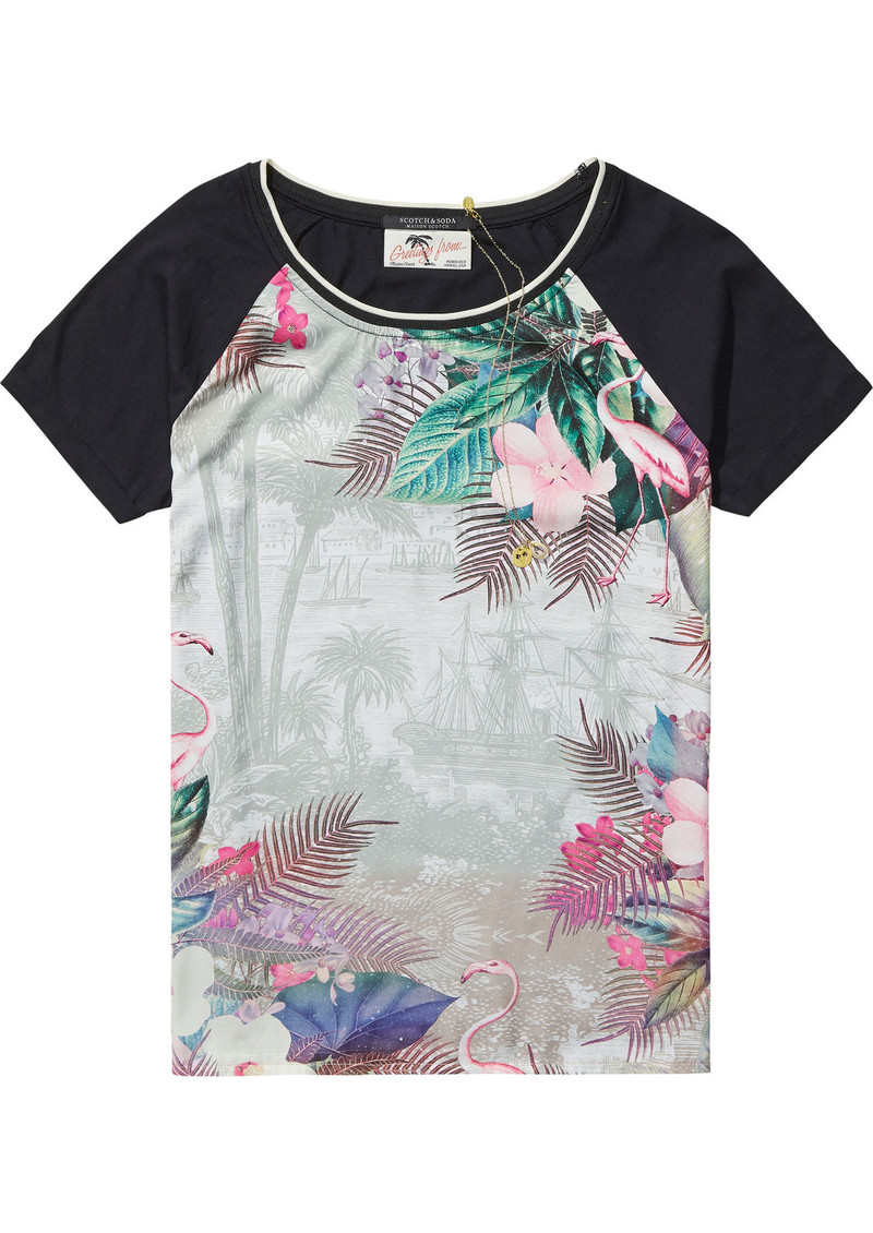 Maison Scotch Photo Printed T-Shirt - Combo A main image