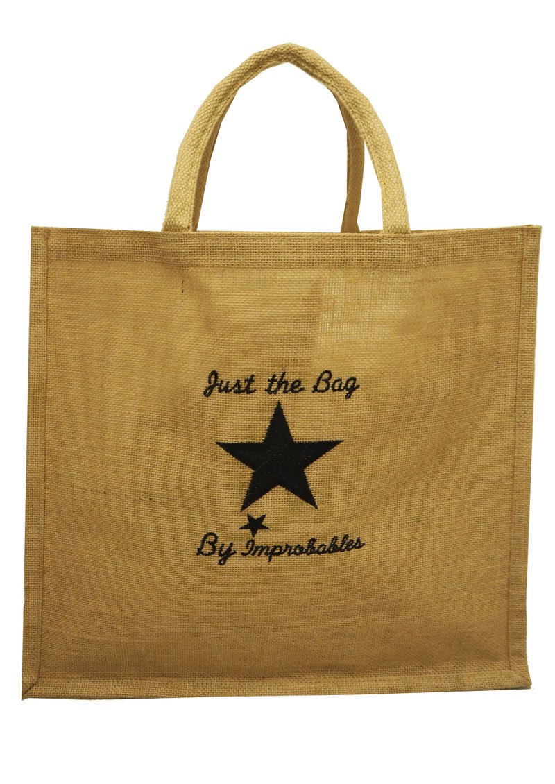 IMPROBABLES It's Not Kate Jute Bag - Black main image