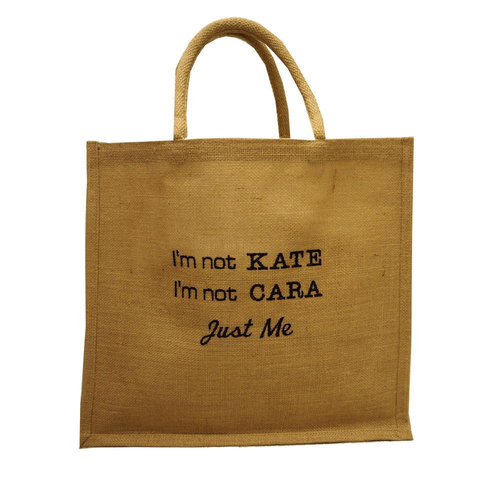It's Not Kate Jute Bag - Black