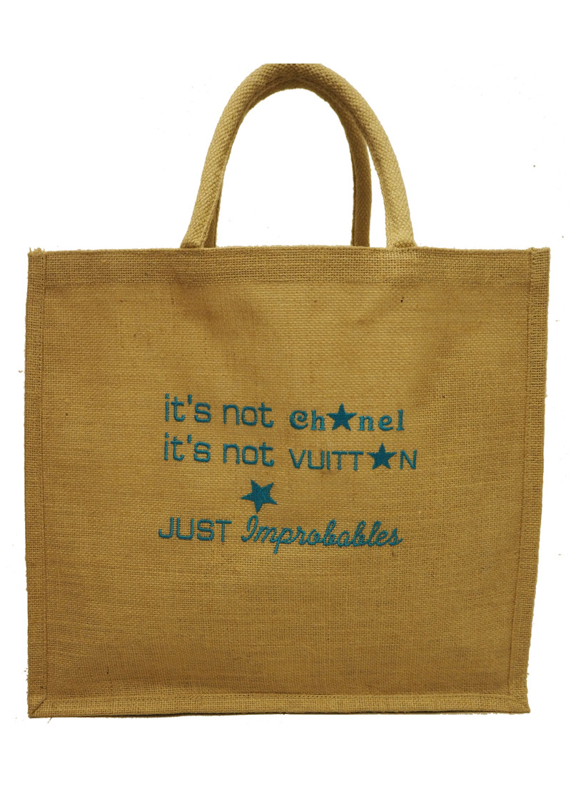 IMPROBABLES It's Not Chanel Jute Bag - Blue main image