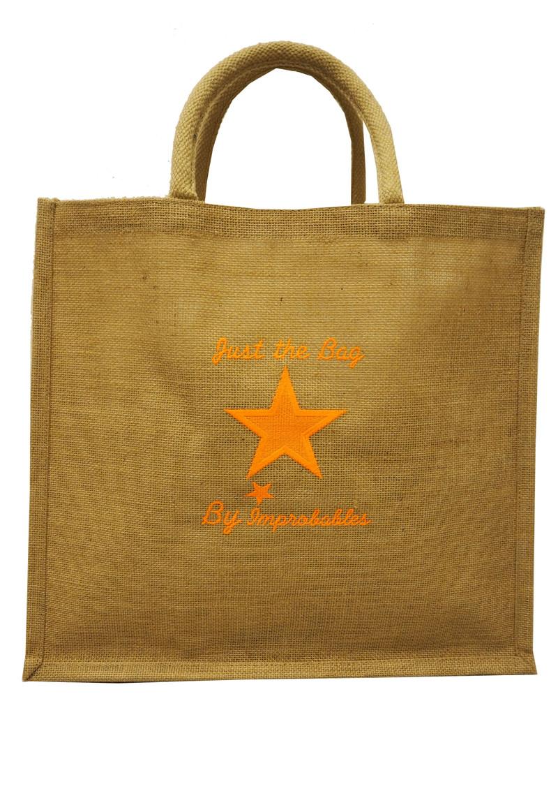 IMPROBABLES It's Not Dior Jute Bag - Orange main image