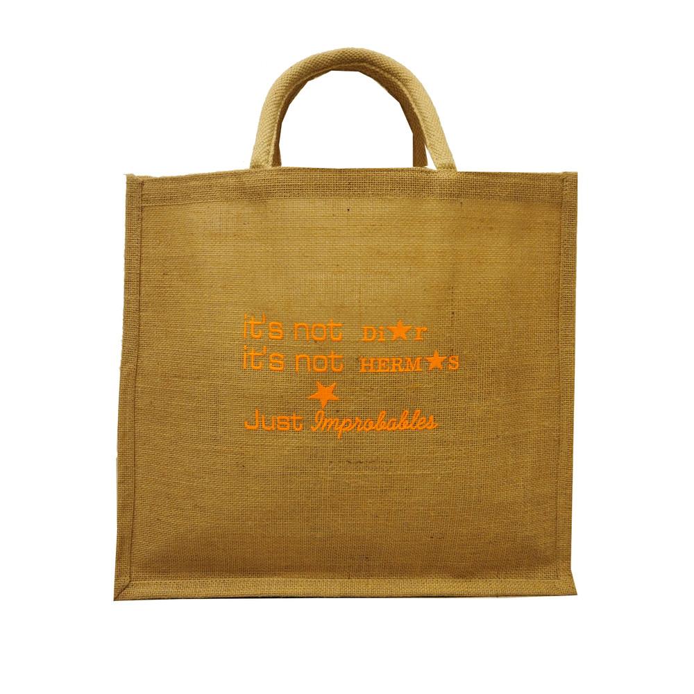 It's Not Dior Jute Bag - Orange